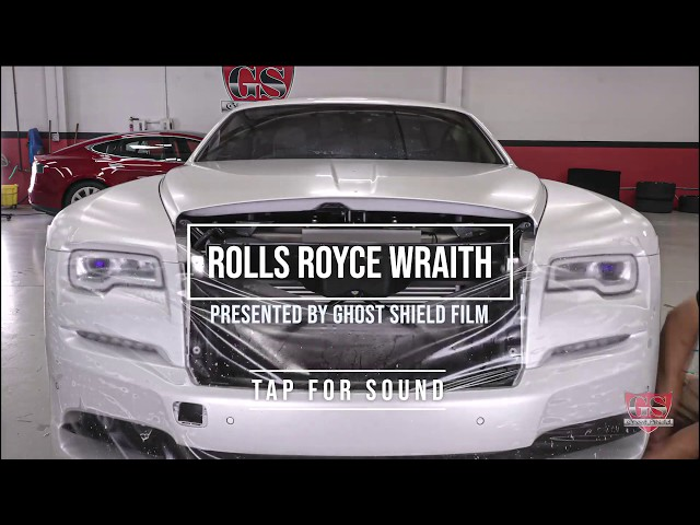 Rolls Royce Satin Front Bumper Clear Bra Before and After Westlake Village