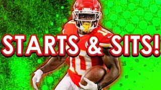 NFL Week 6 Starts & Sits Fantasy Football 2019