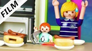 Playmobil Film deutsch | 4-Jährige macht GANZ ALLEINE ESSEN für die ganze Familie | Familie Vogel