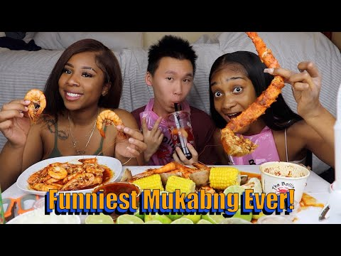 KING CRAB LEGS (SEAFOOD BOIL) MUKBANG WITH TATYANA ALI | C AND L ASMR