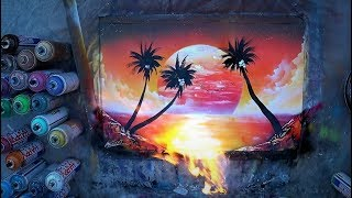 SPRAY PAINT ART by Skech - Sea Sunset