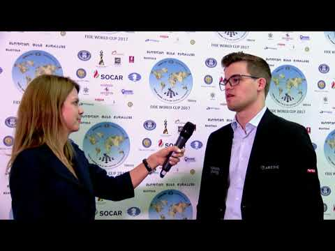FIDE World Chess Cup 2017 Interview with Magnus Carlsen