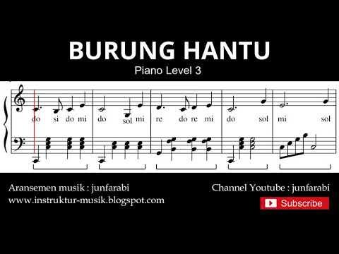 Notasi Balok Burung Hantu - Tutorial Piano Level 3 - Not Lagu Anak Indonesia - Instrumentalia