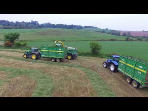 Silage 2018 Walsh Agri (drone footage)