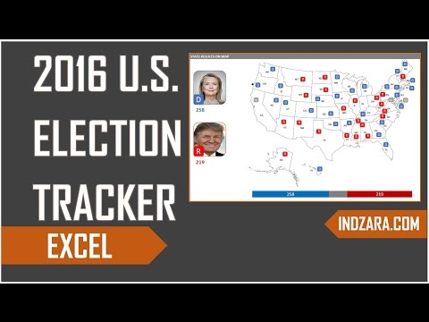 2016 U.S. Presidential Election Tracker - Excel Template - Demo
