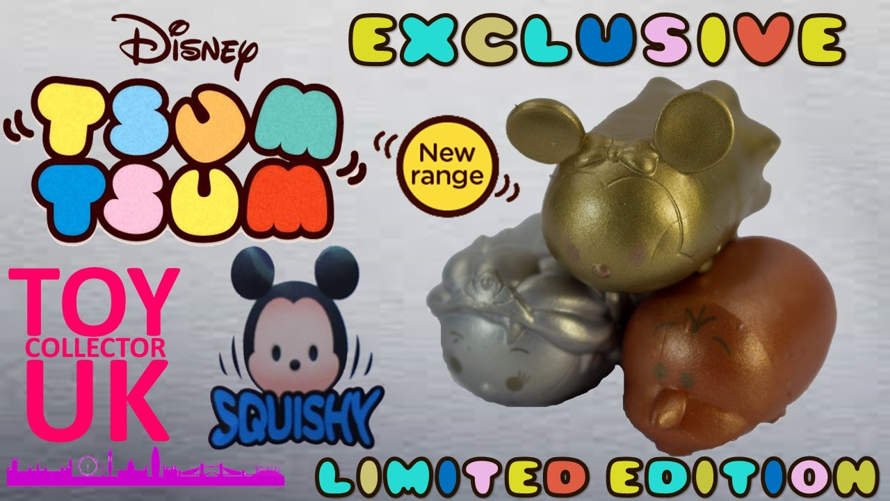 SQUISHY Tsum Tsum Limited Edition Gold Silver and Bronze Squishy Tsum Tsum s - YouTube