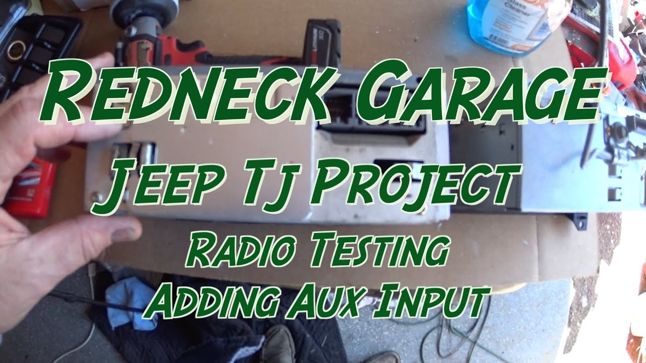 Jeep Wrangler TJ Project - Factory Stereo Modification - Adding Aux Port -  Testing