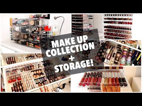 MAKE UP COLLECTION & STORAGE.. AFTER A CLEAR OUT!? | Rachel Leary