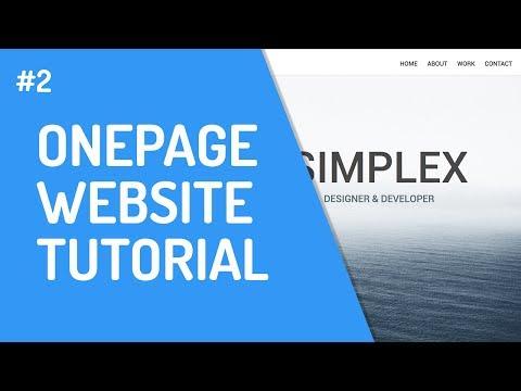[2] One-Page Website Mit HTML & CSS | Grundgerüst In HTML