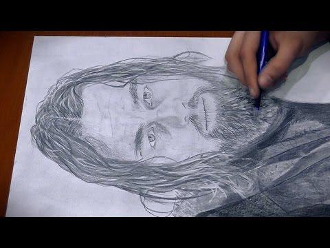 Drawing Leonardo DiCaprio as Hugh Glass