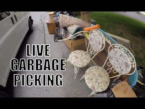 Thumbnail: WOW GREAT DAY OF Garbage Picking! Live Treasure Hunting! Scrap - Furniture - Treasures!