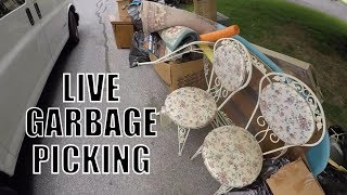 WOW GREAT DAY OF Garbage Picking! Live Treasure Hunting! Scrap - Furniture - Treasures!