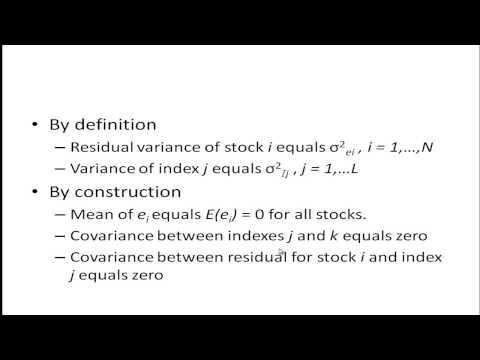 Single Index Model Example von YouTube · Dauer:  8 Minuten 58 Sekunden