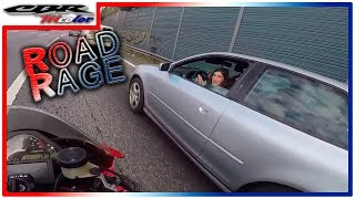 ☠ Road Rage - Car vs Bike - Stupid Bitch - Almost killed me with the car!