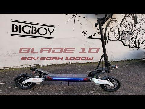 Видеообзор одномоторного электросамоката Blade 10 или RX1000: купить в Украине