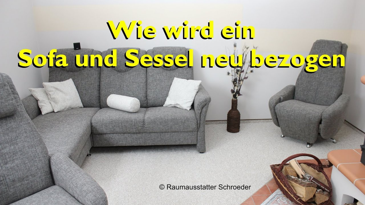 sofa und sessel neu beziehen polstern couch reupholstery time lapse raumausstatter. Black Bedroom Furniture Sets. Home Design Ideas