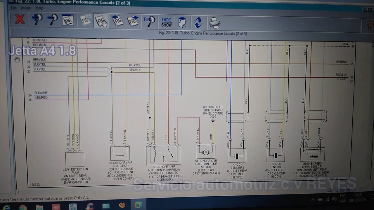 Diagrama El U00e9ctrico De Motor Jetta A4 1 8