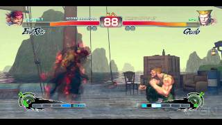Street Fighter 4 Arcade Edition: Evil Ryu vs Guile PC Gameplay