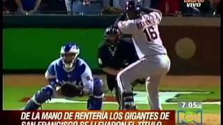 Edgar Rentería, Campeón de la Serie Mundial de Béisbol de 2010 con los Gigantes de San Francisco
