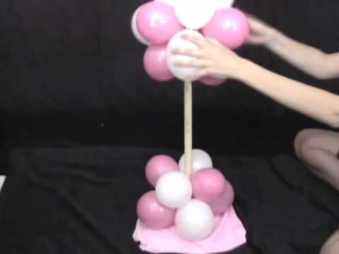 Party Decorations   How To Make A Balloon Tree Decoration   YouTube