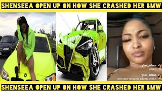 Shenseea open up on how she crashed her Bmw