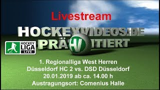 1. Regionalliga West Halle Herren DHC 2 vs. DSD 20.01.2019 Livestream