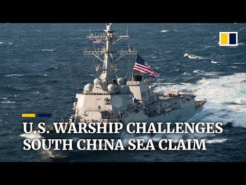 US warship challenges South China Sea claim