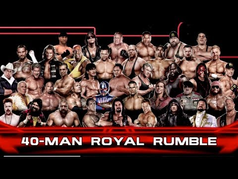 WWE 2K14 Gameplay: 40-man Royal Rumble Match - Legend difficulty on Xbox 360