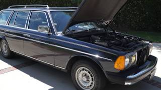 1985 Mercedes-Benz 300TD 123T STATION WAGON BLUE Turbo Diesel OM617 Engine 197K Miles