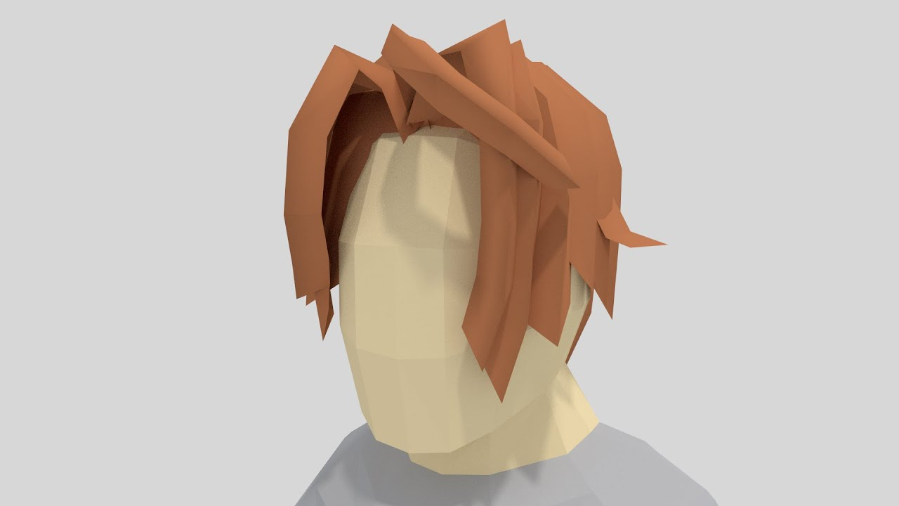 Low Poly Character Modeling Tutorial Blender : Blender tutorial how to model low poly hair youtube