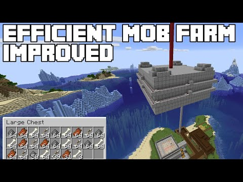 Efficient Mob Farm Improved - Minecraft Tutorial (Java Edition 1.14/1.15+)
