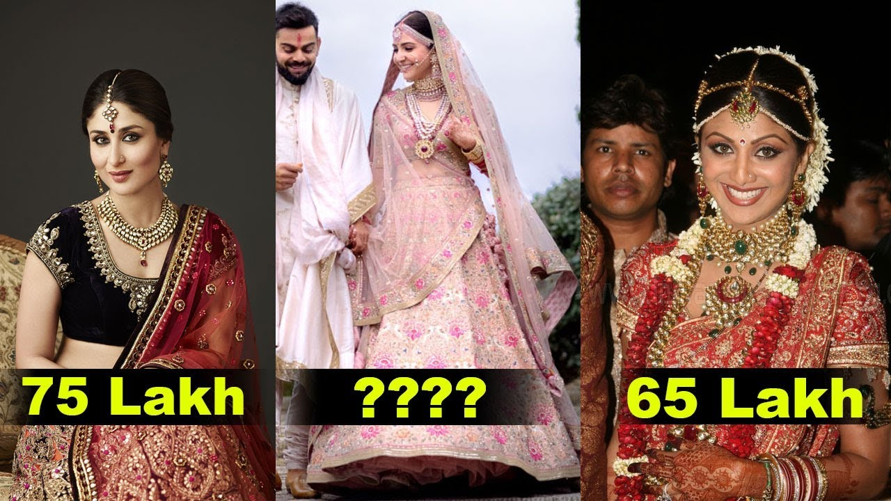 9 Most Expensive Wedding Dress Of Bollywood Actresses| Anushka ...