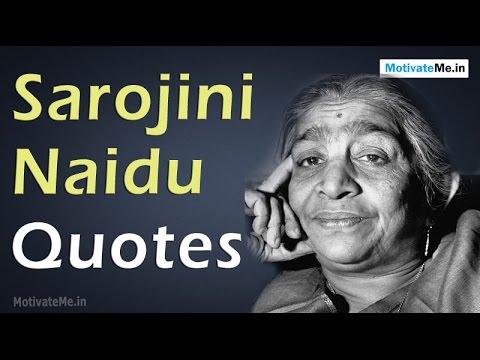 sarojini naidu in hindi language