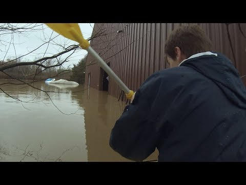 Ohio River Flood Exploration | Found Floating Keg!?!