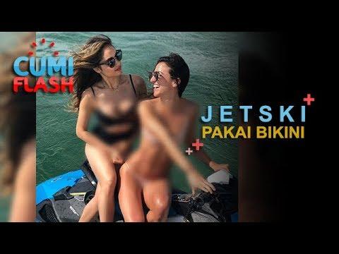 Berbikini Naik Jet Ski, Cinta Laura Seksi Abis - CumiFlash 14 November 2017