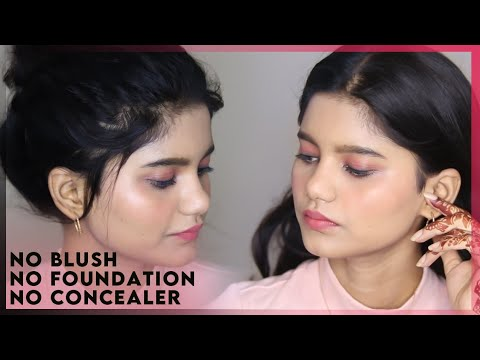 cute budget rakshabandhan makeup look  no foundation
