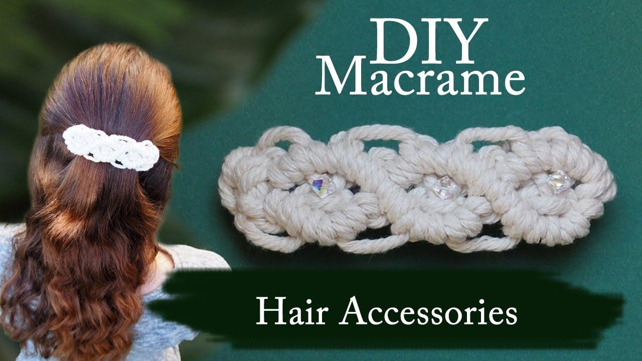 macrame hair tie small