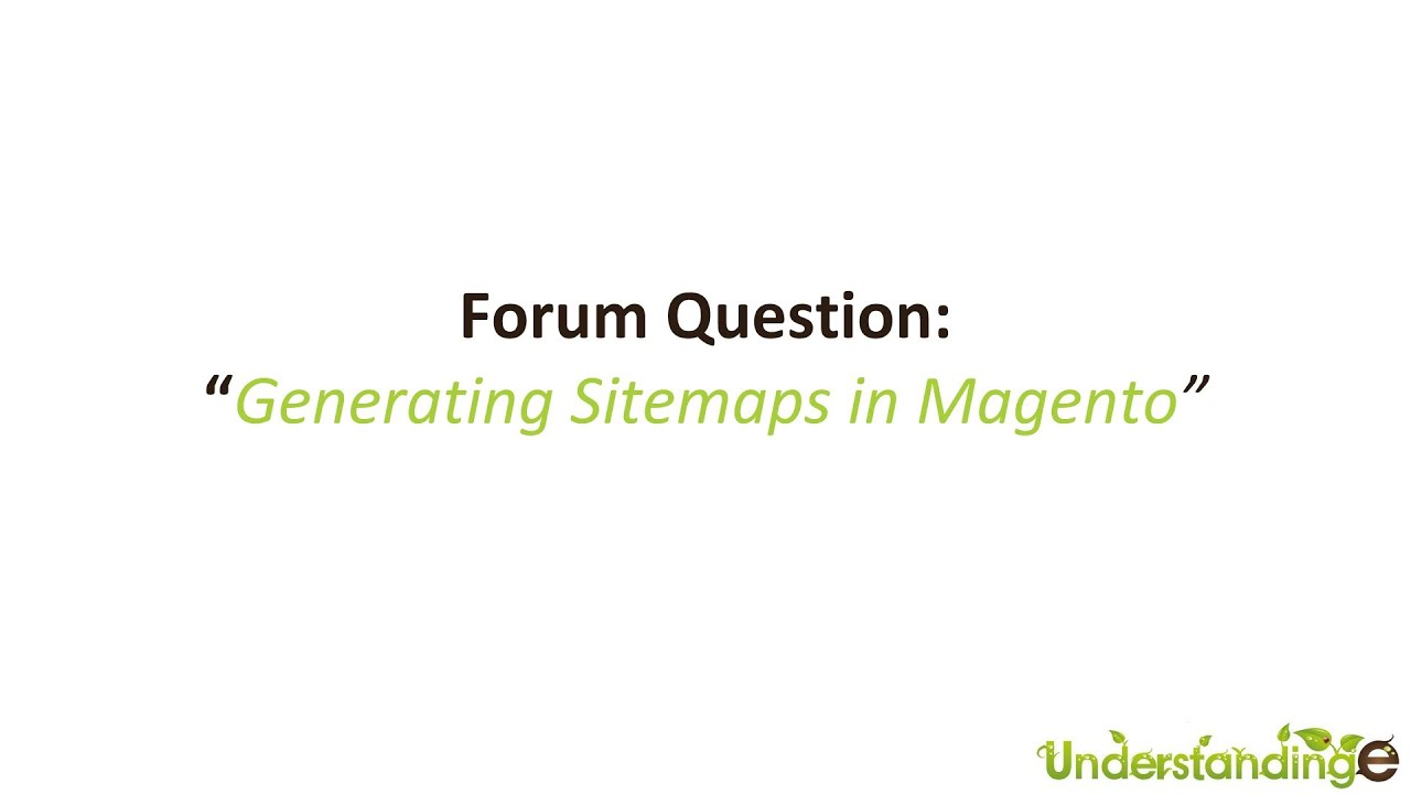 how to create a sitemap in magento for google webmaster tools youtube