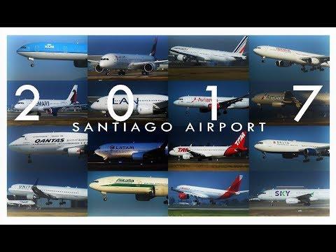 Santiago Airport   BEST of Planespotting 2017