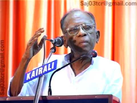 Sukumar azhikod the orator from kerala  speech about war r from kerala