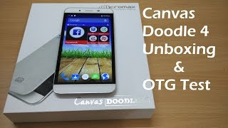 Micromax Canvas Doodle 4 Unboxing And Camera
