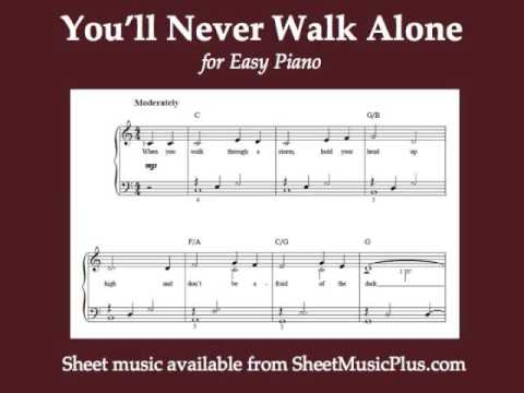 You\'ll Never Walk Alone (Easy Piano) - YouTube