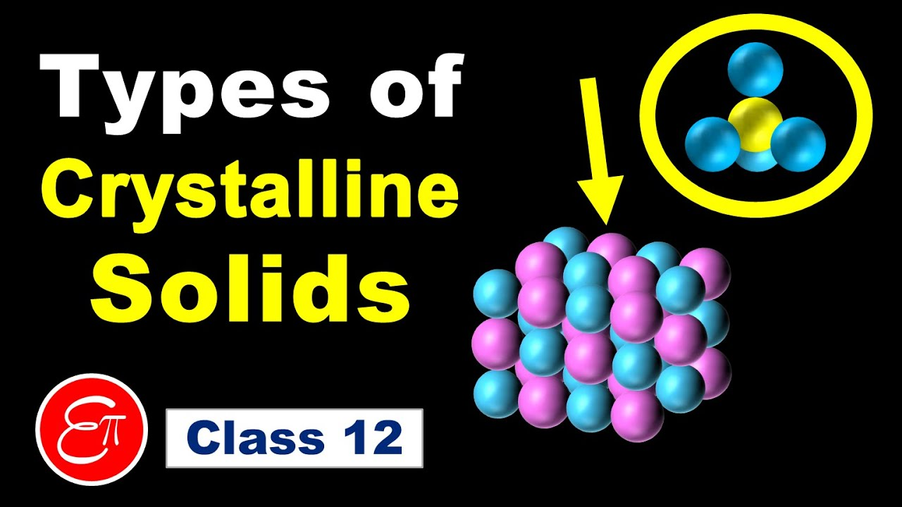 Types of Crystalline Solids (The Solid State - 2) || Chemistry for Class 12 in Hindi