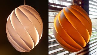 Swirl pendant lamp - how to make a spiral paper lampshade/la...