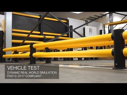 a-safe-|-mflex-double-traffic-flexible-safety-barrier-testing