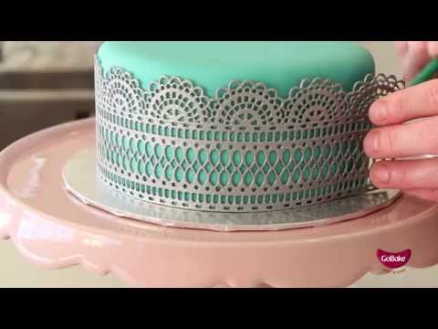 GoBake - How to make Edible Lace using Flexi Lace
