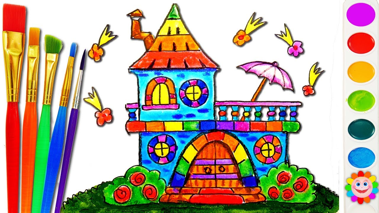 How To Draw Castle Disney Princesses Coloring Pages House Coloring