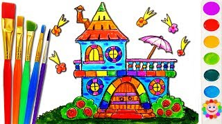 How to Draw Castle Disney Princesses Coloring Pages House Coloring Pages Princess Kingdom