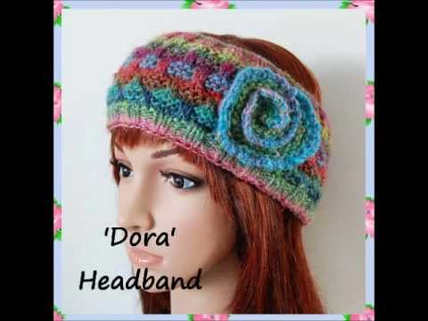Dora Child Teen Ladies Ear Warmer Noro Aran Yarn Headband Hair Wrap