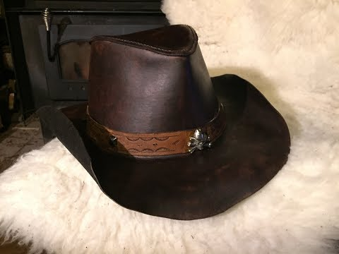 How to make a leather hat part 2